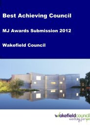 Making a Difference in Yorkshire and Humber ... - The MJ Awards