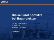 Risiken und Konflikte bei Bauprojekten