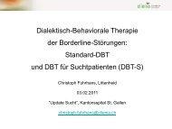 Dialektisch-Behaviorale Therapie der Borderline ... - Fosumos