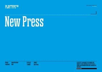 New Press Bold New Press Bold Italic - Playtype