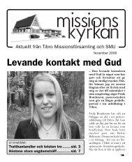 Levande kontakt med Gud - Missionskyrkan Tibro