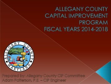 Capital Improvement Program - Allegany County Government