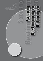 Satzung des DTTB - DIS - Deutsches Sportschiedsgericht