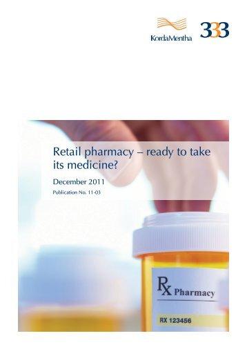 Retail pharmacy – ready to take its medicine? - KordaMentha