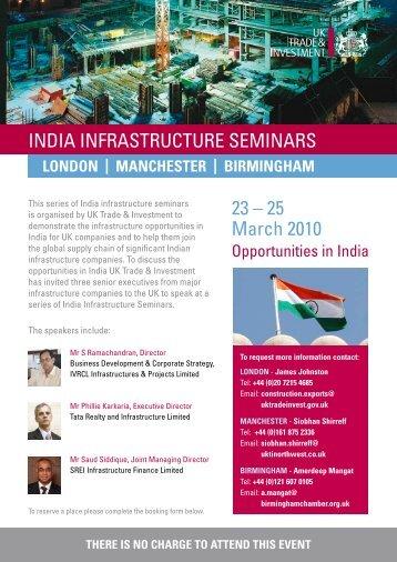 IndIa Infrastructure semInars 23 – 25 march 2010 - British Water