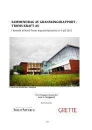 sammendrag av granskingsrapport - Troms fylkeskommune