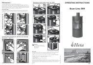 OPERATING INSTRUCTIONS Scan Line 500 HETA ... - Stoves Online