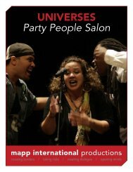 UNIVERSES Party People Salon - MAPP International Productions
