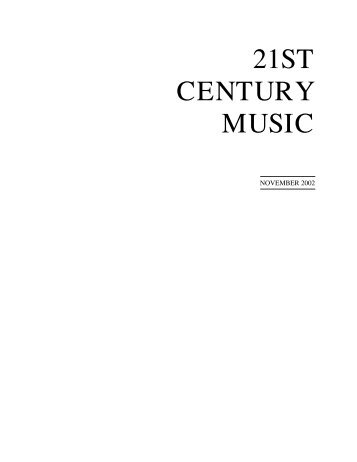 November - 21st Century Music