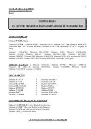 Conseil municipal extraordinaire du 22 décembre ... - Deuil-la-Barre