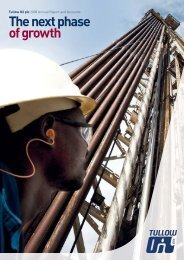 Download the full 2008 Annual Report - Tullow Oil plc - 2008 Annual ...