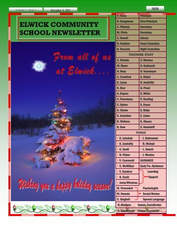 December 2011 Newsletter - Seven Oaks School Division