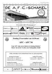 19 november 2003, 82e jaargang nummer 7 - AFC, Amsterdam