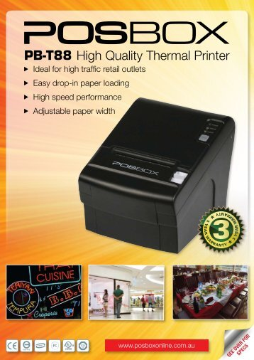 PB-T88 High Quality Thermal Printer - OSCS