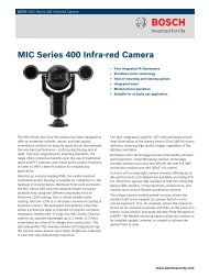 MIC Series 400 Infra-red Camera - Zone Technology