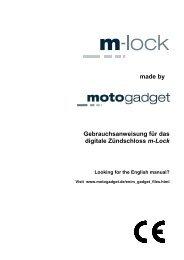 m-Lock - Motogadget