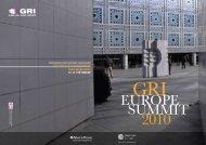GRI EuROPE SuMMIT 2010 - Arkitera.com
