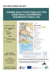 podklady pro rozbor udržitelného rozvoje území - Město Česká Lípa