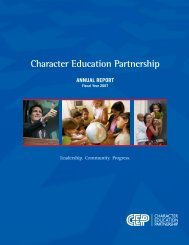 Download the 2007 Annual Report - Character Education Partnership