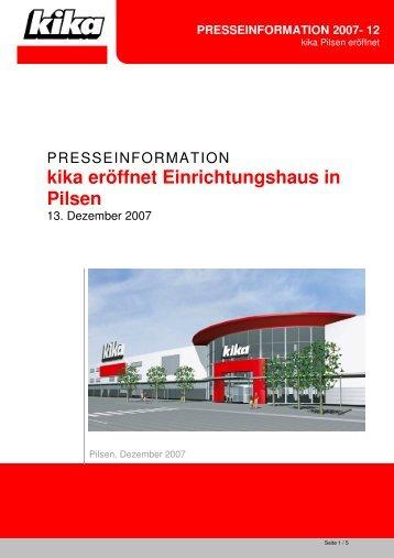 kika eröffnet Einrichtungshaus in Pilsen
