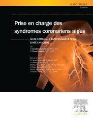 Prise en charge des syndromes coronariens aigus - Acute Coronary ...
