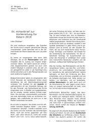 01. Hirtenbrief zur Vorbereitung für Ostern 2010