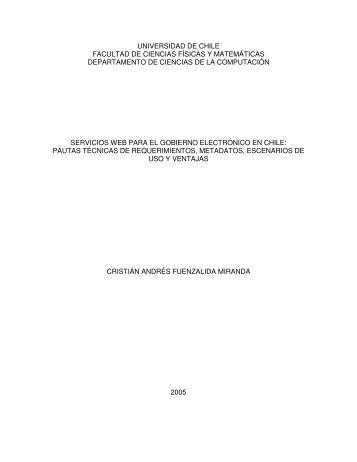 Servicios Web para el Gobierno electronico en Chile