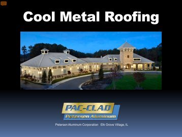 download the PDF - Pac-Clad Metal Roofing