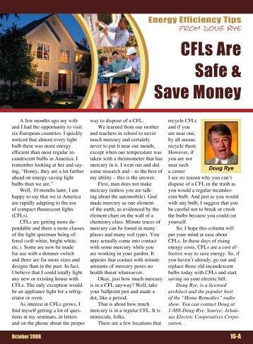 CFLs Are Safe & Save Money - Bluestem Electric