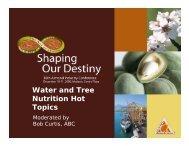 Irrigation Strategies - Almond Board of California