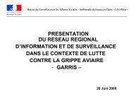 Réseau Régional d'Information et de Surveillance Grippe Aviaire ...