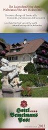 Prospetto dell' Hotel PDF - Hotel Bemelmans Post