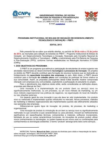 Edital - DTI- Diretoria de Tecnologia da Informação - UFV