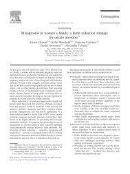 Misoprostol in women's hands - Association of Reproductive Health ...