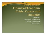Ben Branch - Financial Crisis Presentation Dec 08