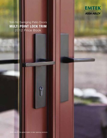 Emtek Multi Point Price Book - Top Notch Distributors, Inc.