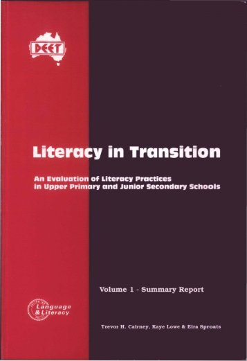 Literacy in Transition - Trevor Cairney