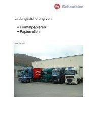 Ladungssicherung von Papierrollen - Scheufelen