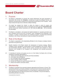 Board Charter - Queensland Rail
