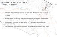 Addressing rising populations: Tundu, Tanzania - Stuckeman