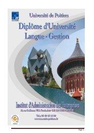 Année Universitaire 2009 / 2010 - IAE de Poitiers - Université de ...