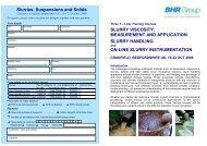 Slurries, Suspensions and Solids SLURRY VISCOSITY - BHR Group