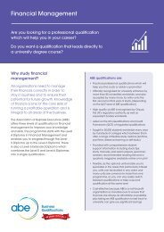 Financial Management - Association of Business Executives