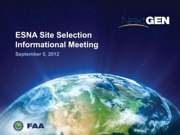 ESNA Site Selection Informational Meeting - ULW PageZone