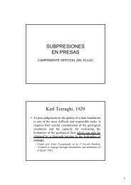 SUBPRESIONES EN PRESAS Karl Terzaghi, 1929 - iPresas