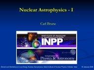 Nuclear Astrophysics - Saha Institute of Nuclear Physics