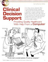 Clinical Decision Support - Biomedical Computation Review