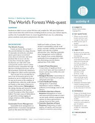 The World's Forests Web-quest - School of Forest Resources ...