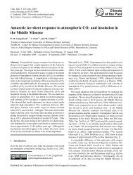 Antarctic ice-sheet response to atmospheric CO2 and insolation in ...