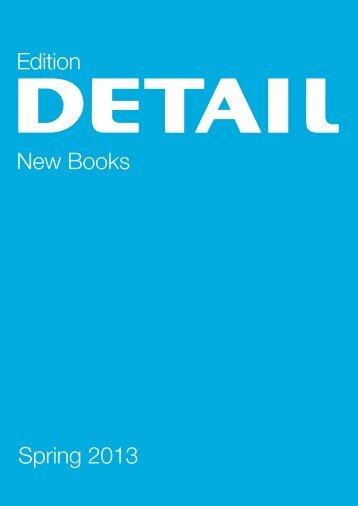 Spring 2013 Edition New Books - DETAIL Online Shop - DETAIL.de